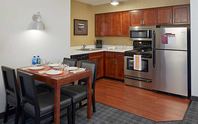 Residence Inn Guest Room Kitchen