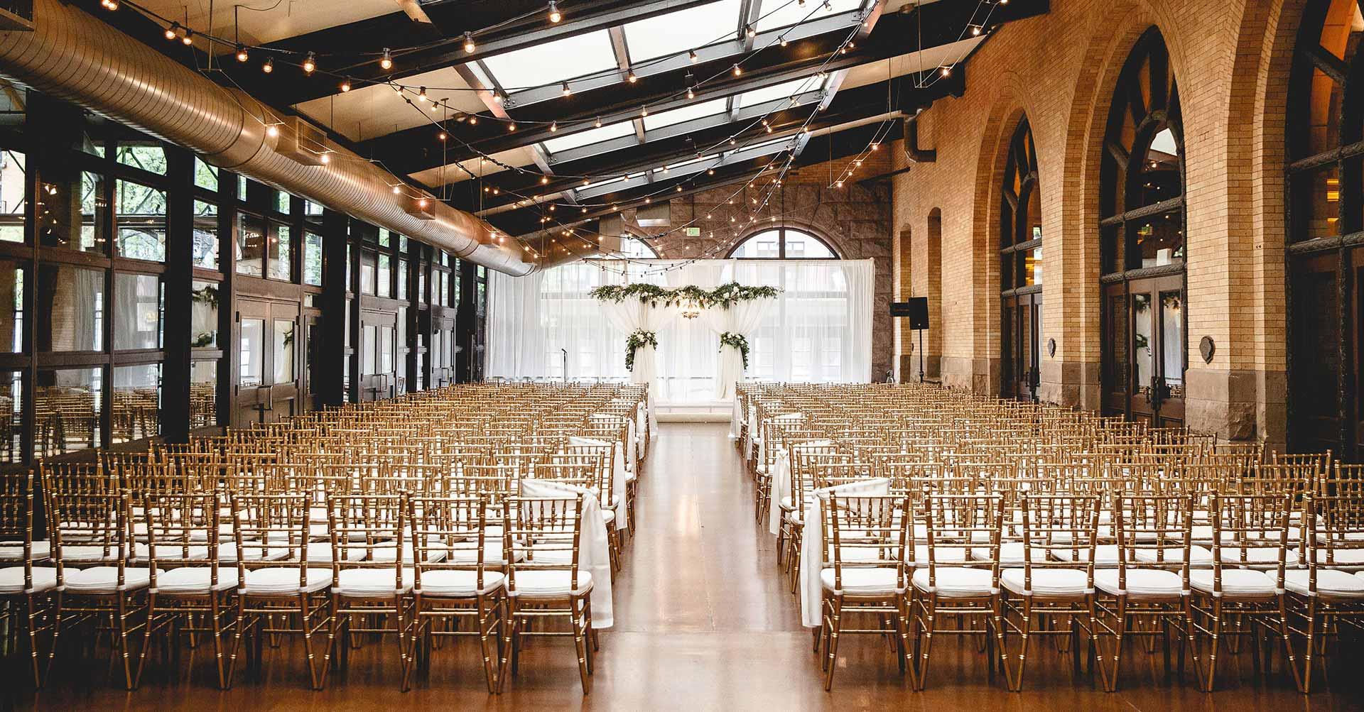 Wedding Ceremony in the Winter-Garden - The Depot Minneapolis