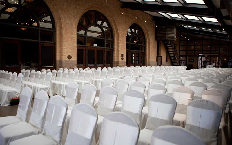 Winter Garden Wedding Ceremony
